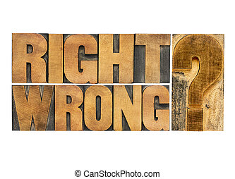 right or wrong question