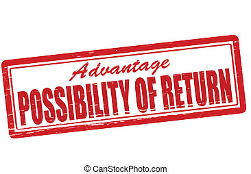 Possibility of return - Stamp with text possibility of...