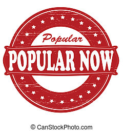 Popular now - Stamp with text popular now inside,vector...