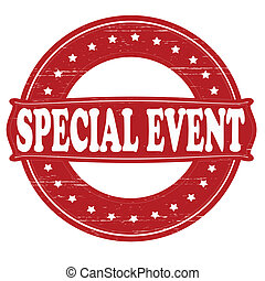 Special event - Stamp with text special event inside,vector...