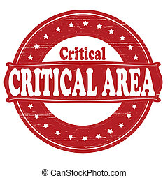 Critical area - Stamp with text critical area inside, vector...