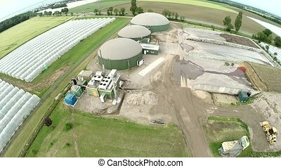 Aerial of Biogas plant