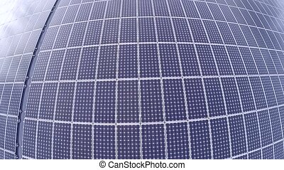 Aerial of a solar panel - Aerial video footage of solar...