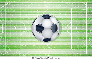 Football field with ball Illustration 10 version