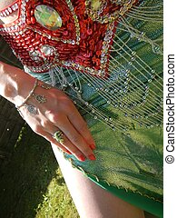Belly dance accessories - snippet of a belly-dance outfit