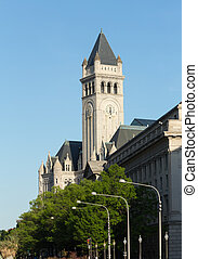Tower of Old Post Office building Washington - Tower of the...