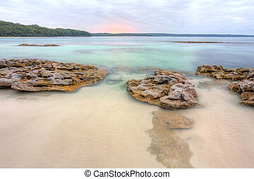 Beautiful view from Scottish Rocks NSW Australia - Standing...