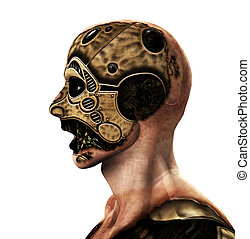 The Cyborg - A male cyborg for technology concepts.