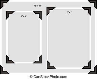 Photo Corners Sizes - Illustration of a blank photo in three...