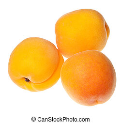 apricot isolated on a pure white background