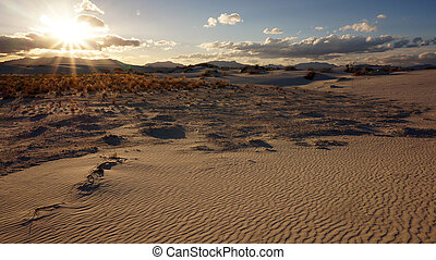 White Sands, New Mexico - The White Sands desert is located...