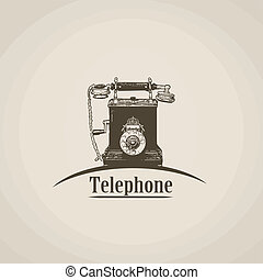 Telephone in vintage style poster