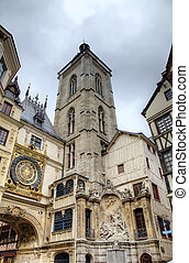 Astronomic clock and fountain at Rue du Gros-Horloge 1389...