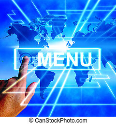 Menu Map Displays International Choosing and Options - Menu...