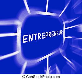 Entrepreneur Diagram Displays Business Person And Start-Up -...