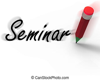 Seminar with Pencil Displays Written Appointment for a Business