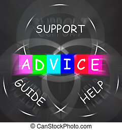Guidance Displays Advice and to Help Support and Guide -...