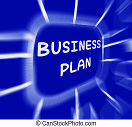 Business Plan Diagram Displays Company Organization And Strategy