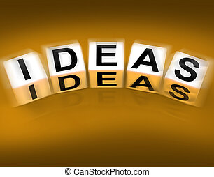 Ideas Blocks Displays Thoughts Thinking and Perception -...