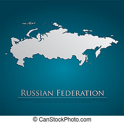 vector Russian Federation Map card paper