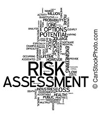 Word Cloud Risk Assessment - Word Cloud with Risk Assessment...