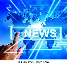 News Map Displays Worldwide Journalism or Media Information
