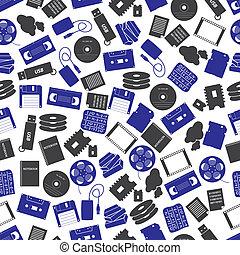 data storage media color pattern eps10