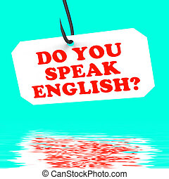Do You Speak English On Hook Displays Foreign Language...