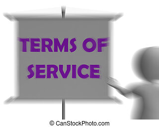 Terms Of Service Board Displays Legality And Privacy - Terms...