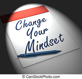 Change Your Mind set Notebook Displays Positivity Or...