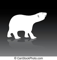 vector polar bear eps10