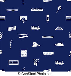 train and railway seamless blue pattern eps10