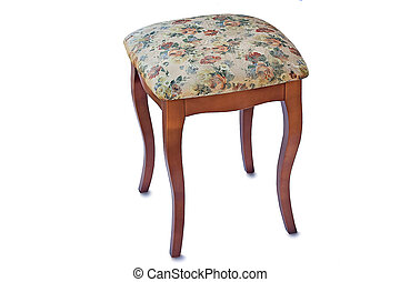 Convenient stool with the seat upholstered with a gobelin. -...