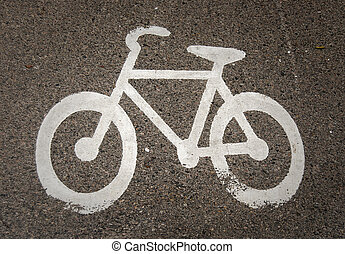 Bicycle road marking