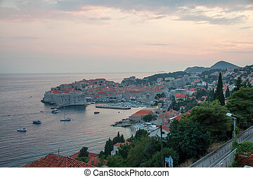 Sunset in Dubrovnik - Dubrovnik in the evening at the sunset...