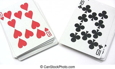 Shuffling Playing Cards - Canon HV30. HD 16:9 1920 x 1080 @...