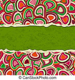 Torn Colorful Paper Background