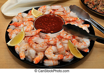 shrimp and dipping sauce