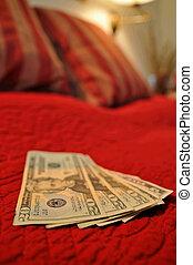 soldi, letto