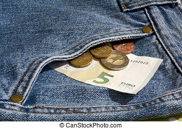 Money in the pocket of a jeans
