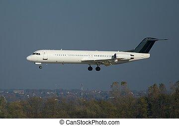 Plane landing - Crosswind landing of a plane