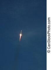 Soyuz Spacecraft In Flight - Soyuz spacecraft is on the way...
