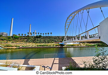 Bridge of Strings and Power Plant Station in Israel - The...