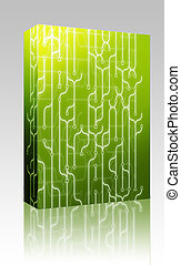 Abstract circuitry box package - Software package box...