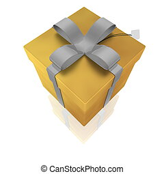 Fancy present illustration - Wrapped fancy present...