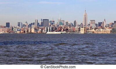 Manhattan Skyline, New York City - New York Skyline and the...