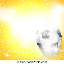 futbol, creativo, Ilustración, diseño, imagen