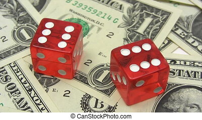 Red Dice on Dollars - Canon HV30 HD 16:9 1920 x 1080 2500...