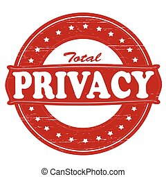 Total privacy - Stamp with text total privacy inside, vector...
