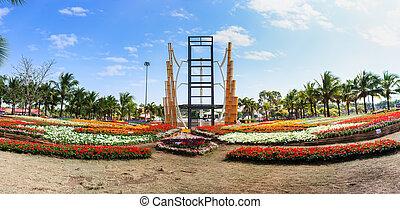 AMAZING FLOWER FESTIVAL 2013 - KHON KAEN,THAILAND - DECEMBER...